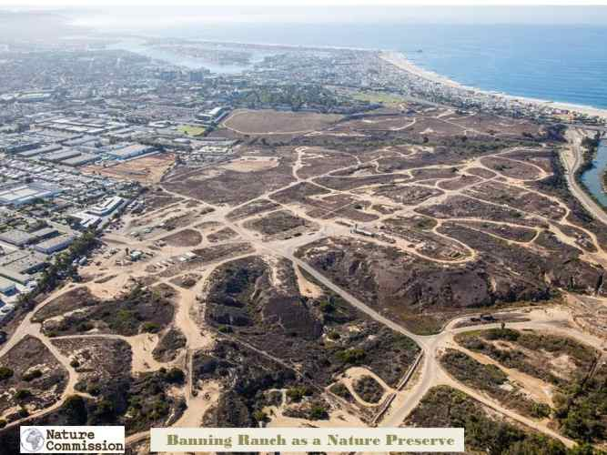 banning ranch aerial location by nature commission