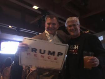 Aliso Viejo City Councilman Mike Munzing celebrates on election night 2016
