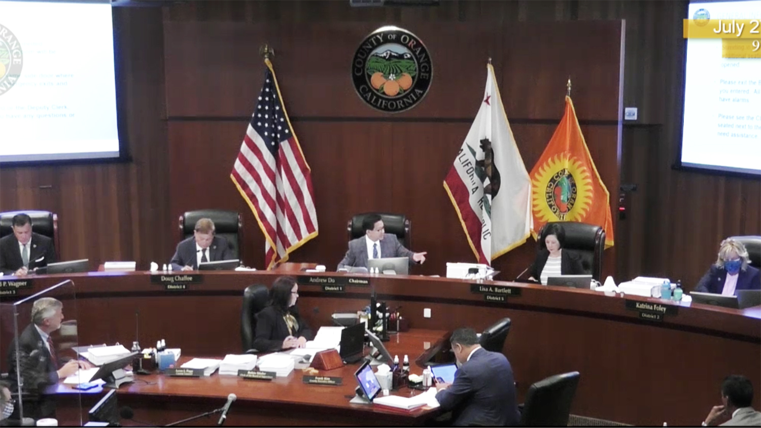 OC Supervisors Bury Public COVID Updates, Shut Down Effort to Have Experts Answer Questions