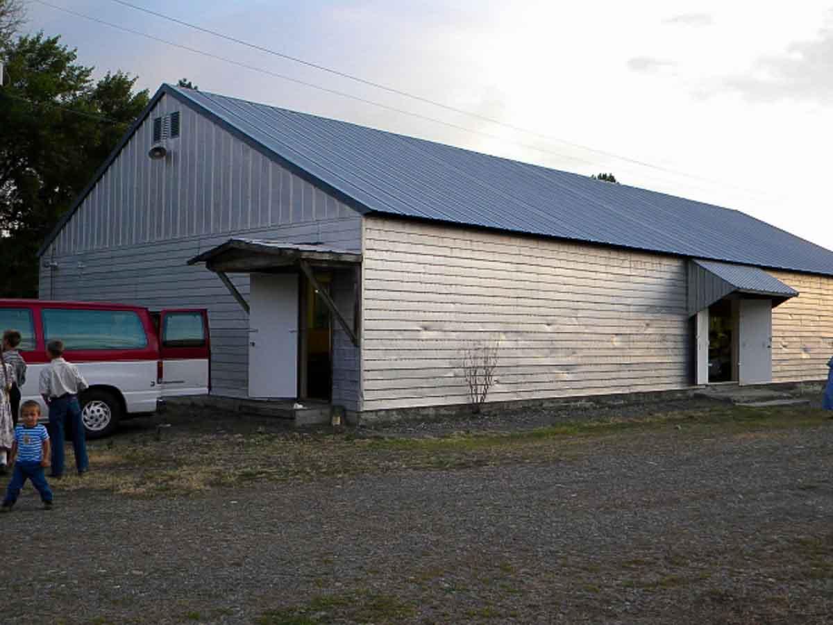 Saturday night we sang at this venue...a Grange