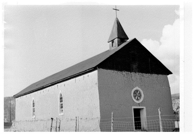 The present adobe church was built in 1820