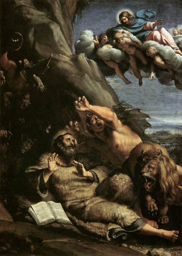 """""""The Temptation of St. Anthony Abbot"""" by Annibale Carracci."""