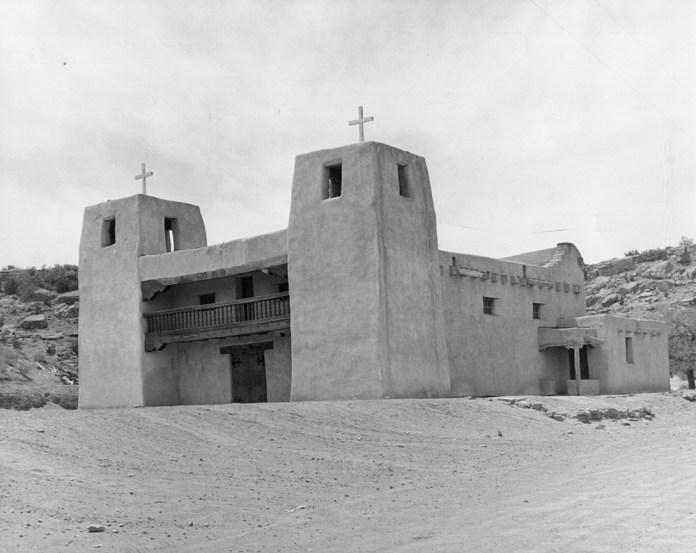 The mission church at Acomita, NM.