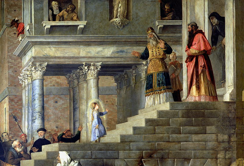 """""""The Presentation of the Virgin Mary"""" by Titian, 1534."""