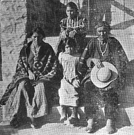 A Navajo family near Lukachukai.
