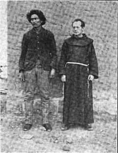 Navajo man Tsishchilli Tsossie and Fr. Anselm.