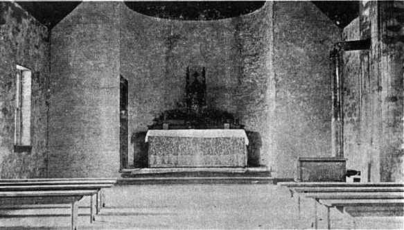 Original interior of the Lukachukai church.