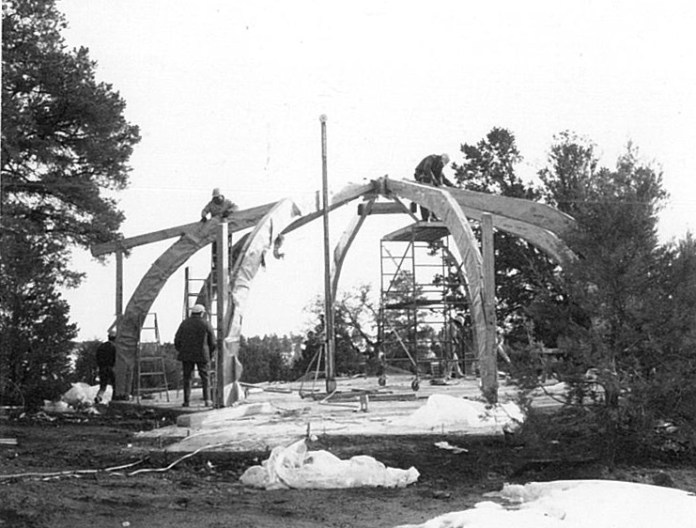 Building the new church.