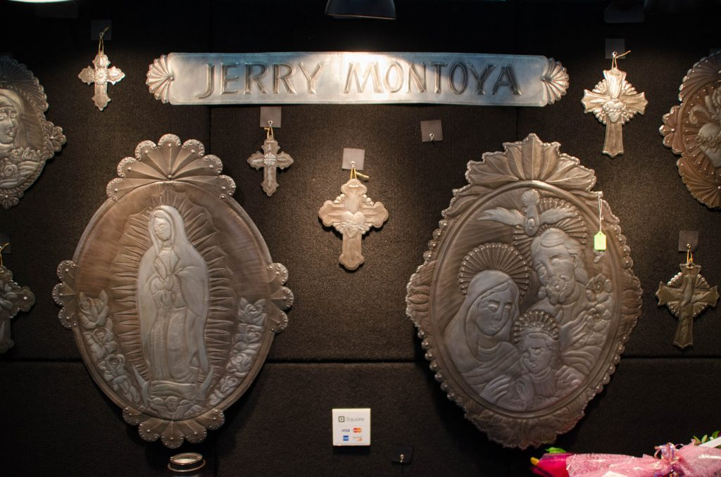 The tin work of Jerry Montoya.