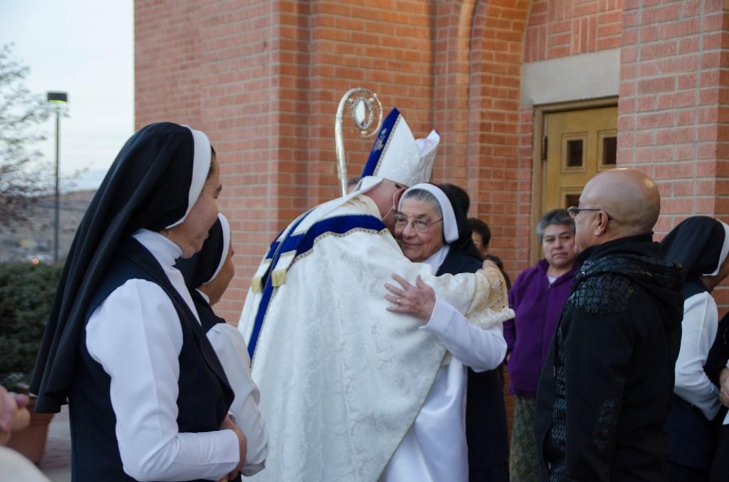 At the 40th anniversary Mass.