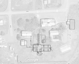 A layout of the new housing complex on the school campus.