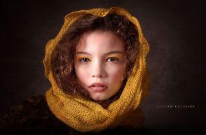 Child in Yellow By David Silva