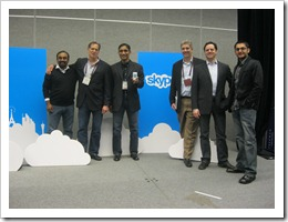 Qik Executives with Skype acquisition team