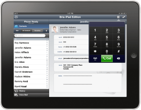 Product Screenshot - Bria iPad Edition (Contacts).290px
