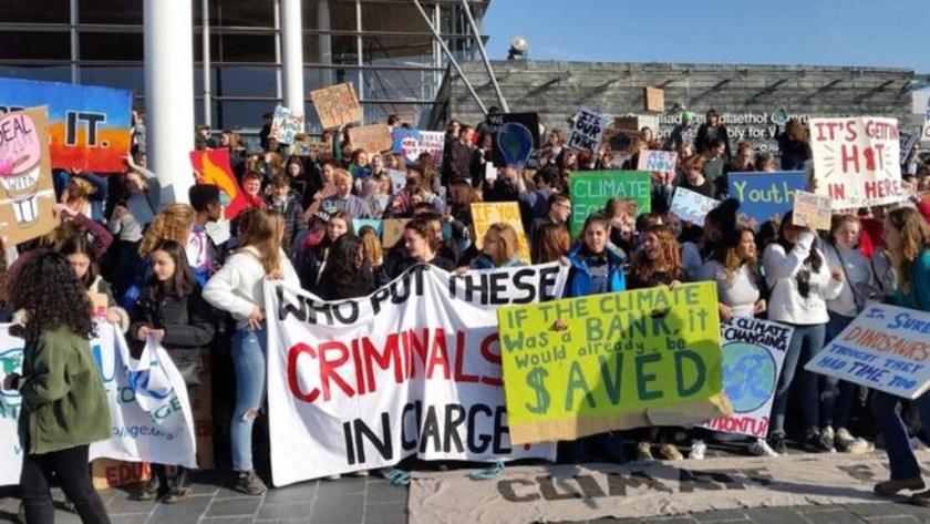 Children protest against Global Warming.