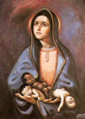 Our Lady with babies