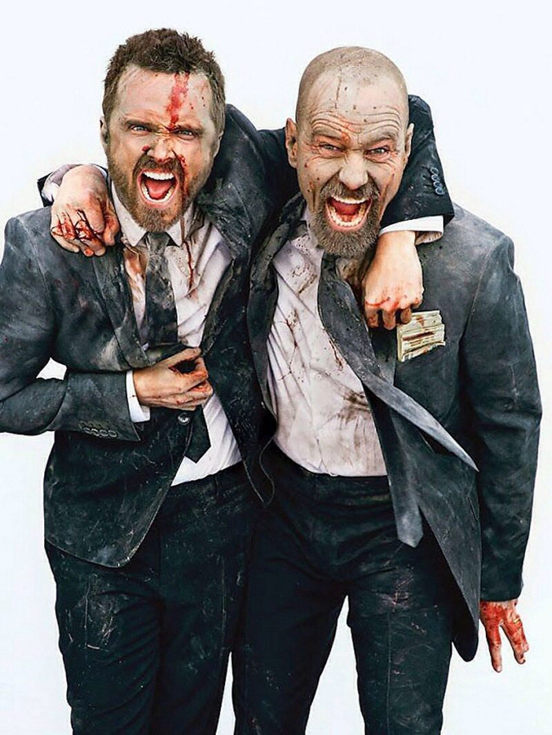 The Breaking Bad Entertainment Weekly Photo-Shoot With Aaron Paul & Bryan Cranston