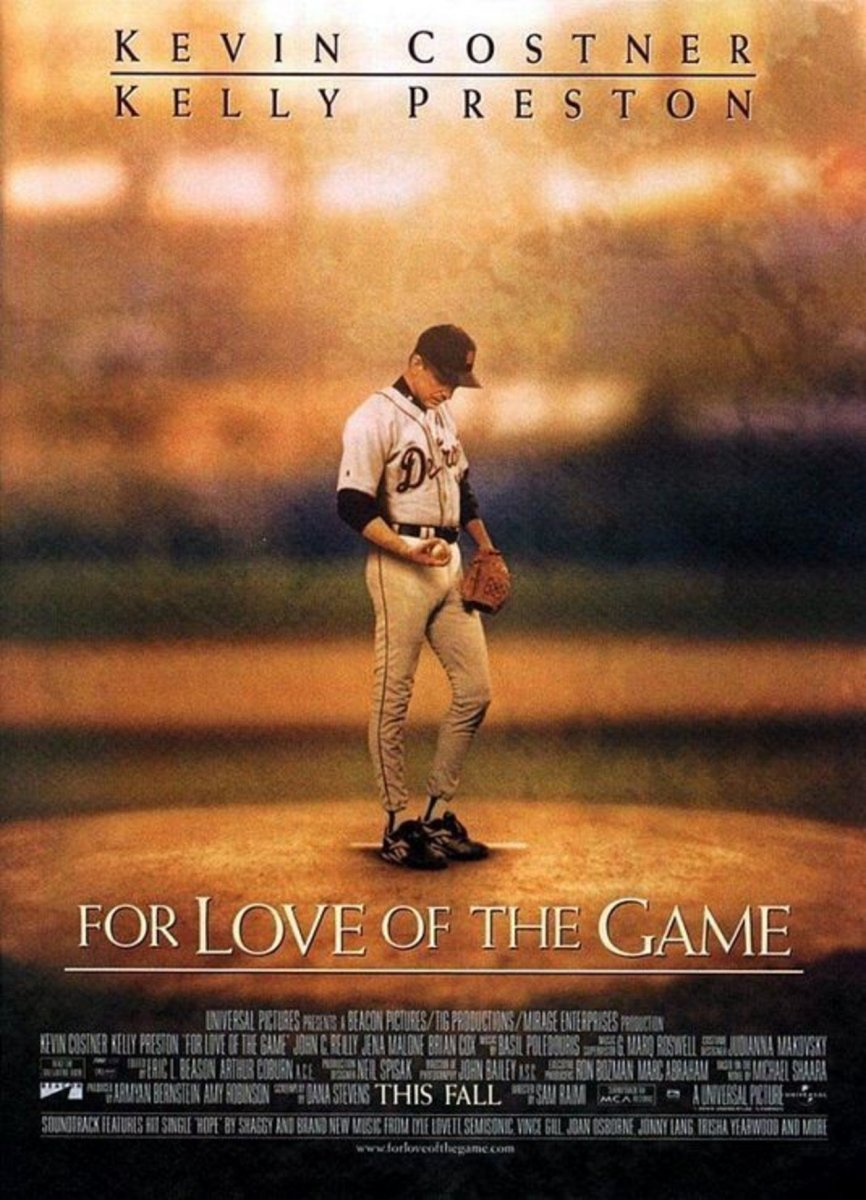 Derek Begins...#9 Kevin Costner in Sam Raimi's For Love Of The Game