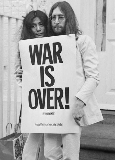 Happy Xmas WAR IS OVER (If You Want It)  #johnlennon #yokoono #warisover