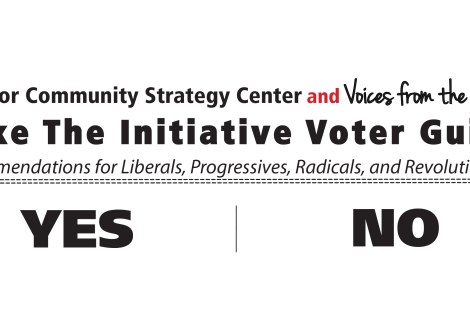 Labor/Community Strategy Center and Voices from the Frontlines Take the Initiative Voter Guide