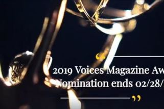 2019 Voices Magazine Award Nomination Begins