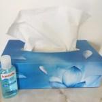 vocal health tissues hand santiser hygiene