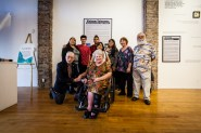 """Veteran Jose Martinez and family, """"Voices Veteranos"""" opening night, March 11, 2017."""