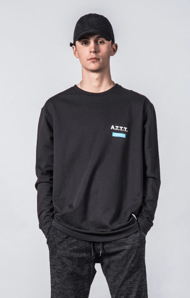 Thing Thing Solid L/S T Black/Blue Banner