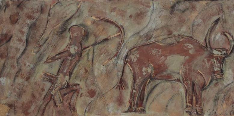Bogenschütze mit Rind I