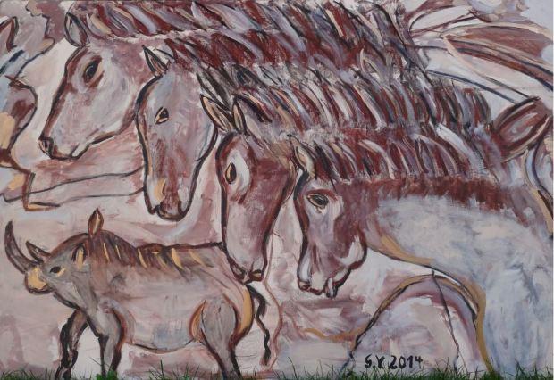 Panneau der Pferde