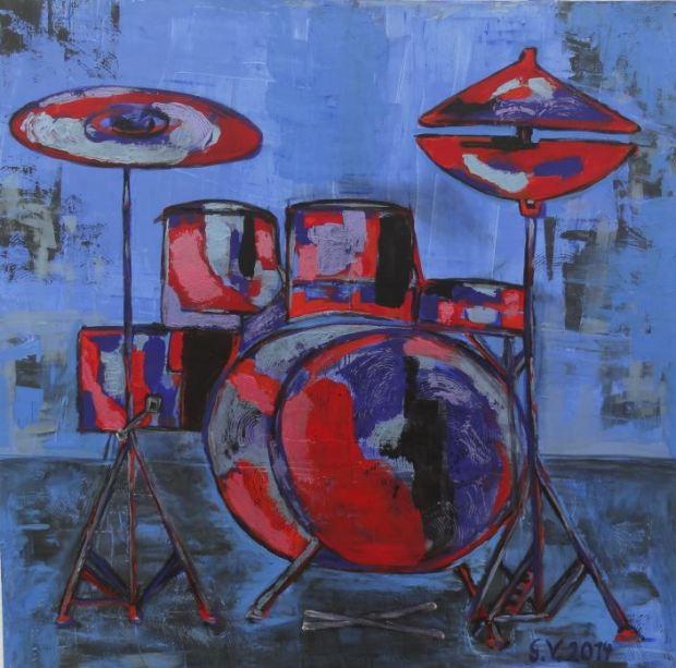 Schlagzeug  Acryl auf Leinwand
