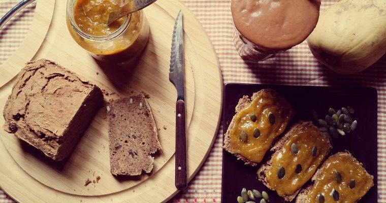 Pan de trigo sarraceno y calabaza con semillas