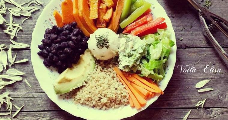 Buddha bowl con verduras de temporada