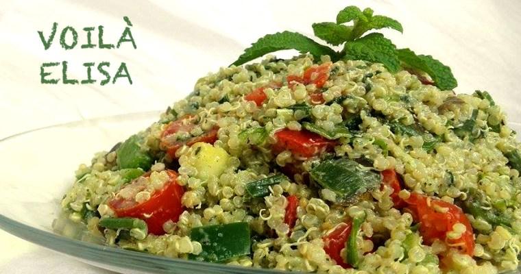 Tabulé de quinoa con verduras