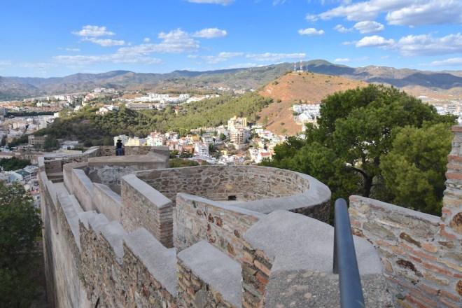 views castle of gibralfaro malaga