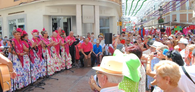 fair malaga larios street festivities in malaga