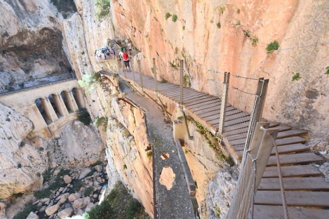 caminito del rey desfiladero gaitanes excursiones de un día desde Málaga