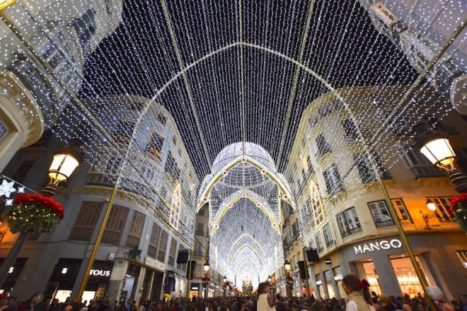 christmas lights malaga larios