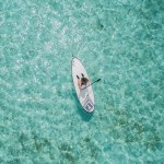 Paddle blue ocean
