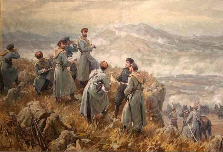"""По това време сръбските войски на северния фланг се съвземат и си връщат част от изгубените терени. Българите контраатакуват. Капитан Марин Маринов - командващ Бдинския полк, нарежда щикова атака - """"На нож"""", като сам повежда бойците си и загива в боя. По-късно Бдинският полк е подкрепен от плевенските дружини и една батарея. Развихря се ожесточена борба за надмощие, но сърбите не успяват да издържат и обръщат в бяг, от тук нататък ходът на сражението е решен. По обяд на 7 ноември българите минават в настъпление."""