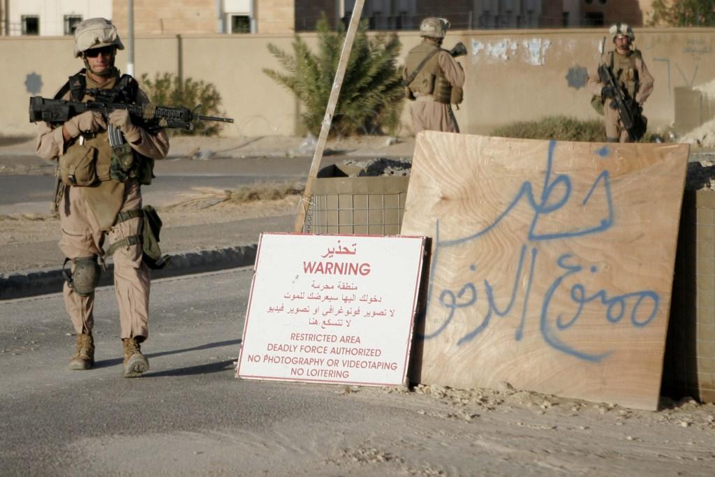 Американски войник в Ирак, 2006 г.