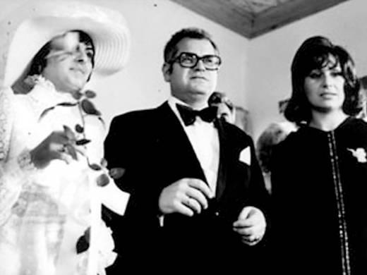 На сватбата на Генко и Дариана през 1973 г. кумува Йорданка Христова. Снимка: http://senzacia.net