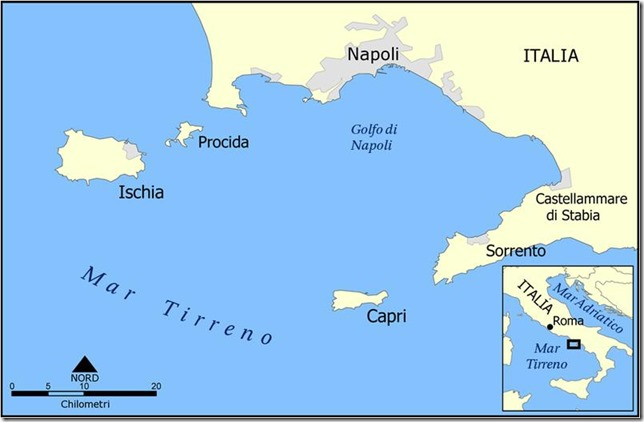 Iles d'Ischia, de Procida et de Capri