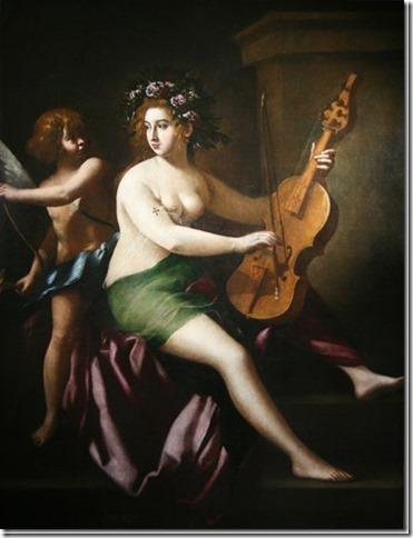 Erato, Muse de la Poésie lyrique par Giovanni Baglione