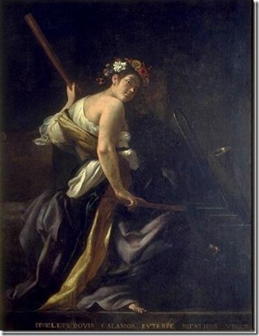 Euterpe, Muse de la Musique par Giovanni Baglione