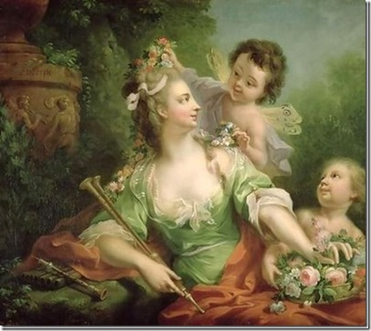 Euterpe, Muse de la Musique par J. H. Tischbein