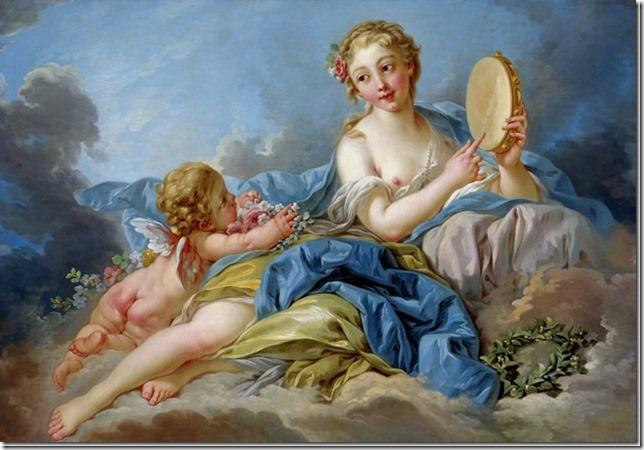 Terpsichore, Muse de Poésie lyrique et de la danse par F. Boucher