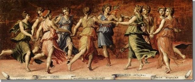 Apollon et les Muses par Baldassarre Perruzzi
