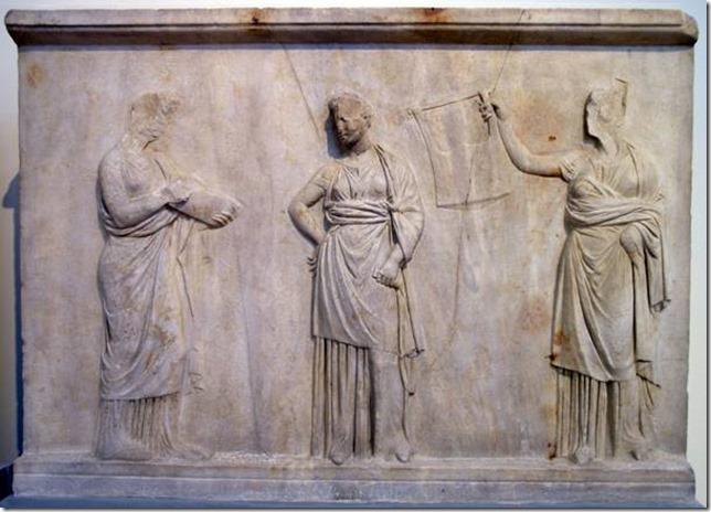 Bas-relief de Mantinée, trois muses