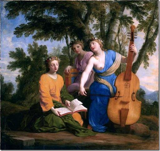 Les Muses Melpomène, Erato et Polymnie par Eustache Lesueur